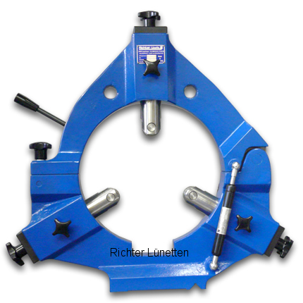 TRAVIS - Lünette mit klappbarem Oberteil und Gasdruckfeder, gebaut von H. Richter Vorrichtungsbau GmbH, Deutschland