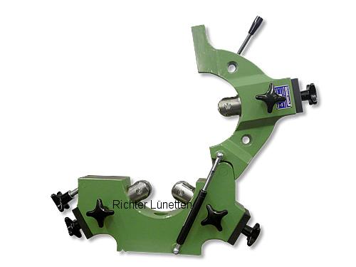 Abwälzfräsmaschine - Lünette mit klappbarem Oberteil und Gasdruckfeder, gebaut von H. Richter Vorrichtungsbau GmbH, Deutschland