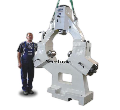 SAFOP Leonard CNC 1000/1800 - Lünette mit abnehmbarem Oberteil, gebaut von H. Richter Vorrichtungsbau GmbH, Deutschland
