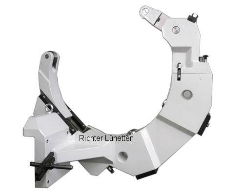 Mazak 650e - C-Form Lünette mit schwenkbarem Oberteil und<br>Schlittenverstellung, gebaut von H. Richter Vorrichtungsbau GmbH, Deutschland
