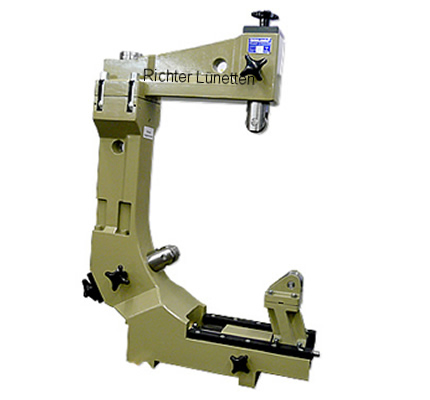 Klaassen Maschinenbau SD 8-12 - C-Form Lünette mit schwenkbarem Oberteil und<br>Schlittenverstellung, gebaut von H. Richter Vorrichtungsbau GmbH, Deutschland