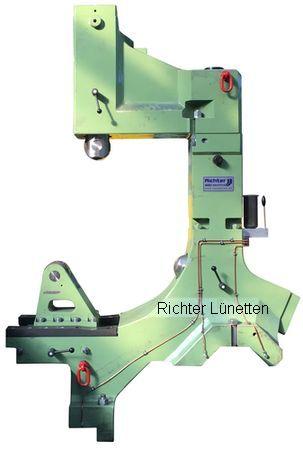 Waldrich WSD 100 - C-Form Lünette mit schwenkbarem Oberteil und<br>Schlittenverstellung, gebaut von H. Richter Vorrichtungsbau GmbH, Deutschland