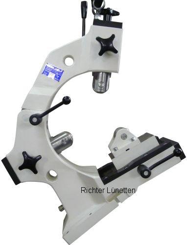 Mazak QTN350MY - C-Form Lünette mit Schlittenverstellung und<br>abschwenkbarer Druckrolle, gebaut von H. Richter Vorrichtungsbau GmbH, Deutschland