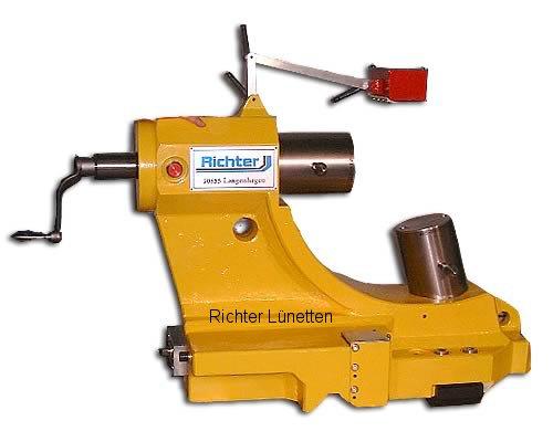 NAXOS - 9 Uhr Pinole: Feinverstellung über Differenzgewinde<br>5 Uhr Pinole: Feinverstellung über Keil, gebaut von H. Richter Vorrichtungsbau GmbH, Deutschland