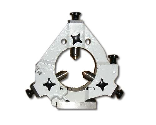 Zentrumschleifmaschine ZS151o.ZS201 - Geschlossene Schleiflünette mit<br>klappbarem Oberteil, gebaut von H. Richter Vorrichtungsbau GmbH, Deutschland