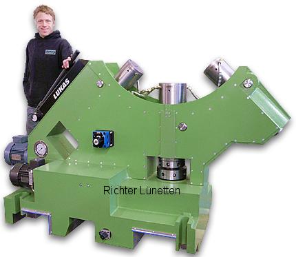 Gleitlünette mit Druckölschmierung, gebaut von H. Richter Vorrichtungsbau GmbH, Deutschland