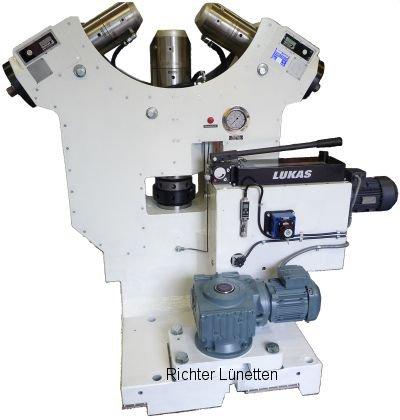Heyligenstaedt - Gleitlünette mit Druckölschmierung, gebaut von H. Richter Vorrichtungsbau GmbH, Deutschland