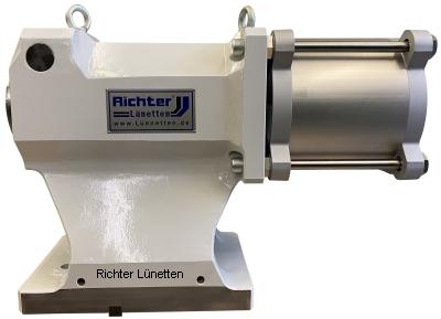 T-Nutentisch - Reitstock mit hydraulisch oder pneumatisch angetriebener Pinole, gebaut von H. Richter Vorrichtungsbau GmbH, Deutschland