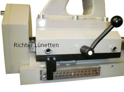 gravierte Skala auf Pinole, gebaut von H. Richter Vorrichtungsbau GmbH, Deutschland
