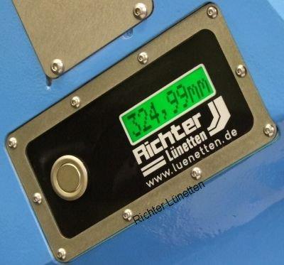 Elektronische Pinolenanzeige, gebaut von H. Richter Vorrichtungsbau GmbH, Deutschland