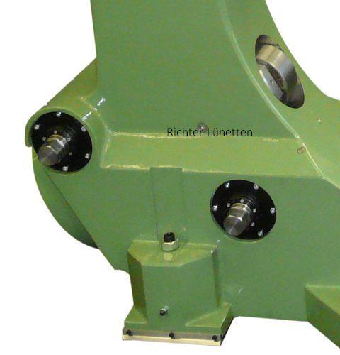 Schneckenradgetriebe zur Pinolenbedienung unter Last, gebaut von H. Richter Vorrichtungsbau GmbH, Deutschland