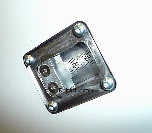 Escala grabada en la pínola, construido por H. Richter Vorrichtungsbau GmbH, Alemania