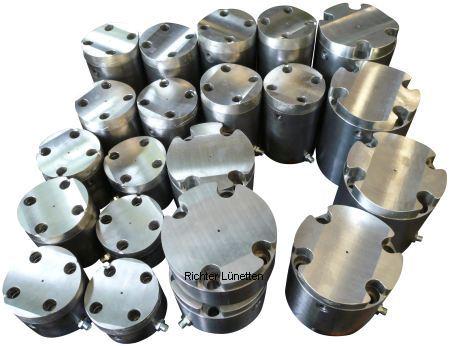 Soporte revestido de metal antifricción y lubricacion interna, construido por H. Richter Vorrichtungsbau GmbH, Alemania